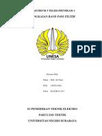 Praktikum 3 Telekomunikasi 1 Band Pass Filter