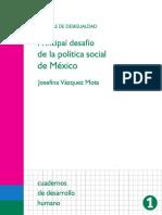 Brechas de Desigualdad Desafío de La Política Social de México