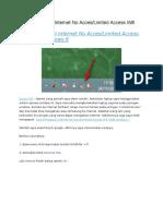 Cara Mengatasi Internet No Acces Limited