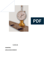 Unit-II Metrology Linear Measurement