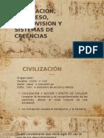 civilizacion, progreso, cosmovision y sistemas de creencias