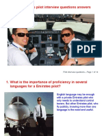 Airline Pilot Interview Question Answers