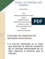 Relaciones de Demandas Entre Bienes.