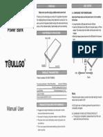 Toullgo 10000mA Power Bank Manual