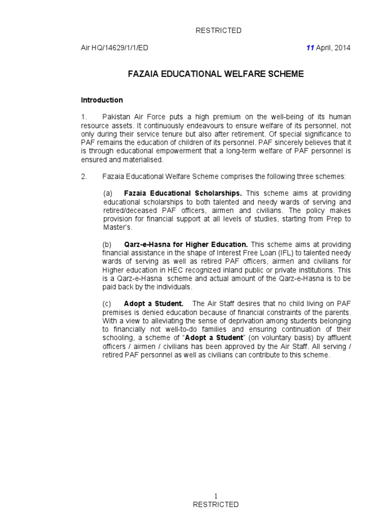 FEWS Policy | University And College Admission | Bachelor's Degree