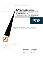 Contractor's Application to CIDA  (English)