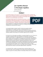 Neuropsicología Cognitiva Manual