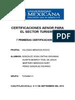 Certificaciones Aenor Para El Sector Turismo