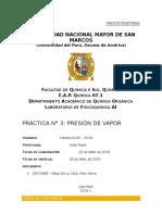 Informe 03 Química Fisicoquimica
