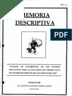 Memoria Descriptiva Escuela Jose Trinidad Reyes