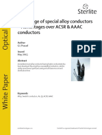 New Range of Special Alloy Conductors Advantages Over ACSR and AAAC Conductors