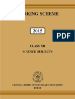 Science Book Marking Scheme 2015