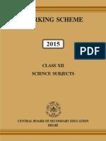 Science Book Marking Scheme 2015