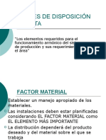 Factores de Disposición de Planta
