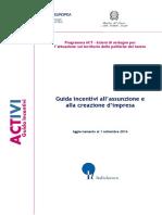 Guida Incentivi Assunzione e Creazione Di Impresa - Versione 20160901