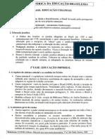 Análise Histórico da Educação Brasileira