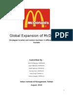 McDonalds Internation Strategy