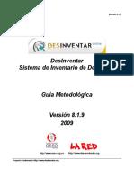 DesInventar GuiaMetodologica 8.1.9