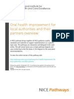 Oral Health Improvement for Local Authorities and Their Partners Oral Health Improvement for Local Authorities and Their Partners Overview