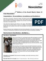 ASA SW Swim 21 Newsletter Issue 2 - May08