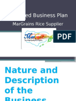 Proposed Business Plan