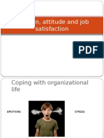 Emotion, Attitude and Job Satisfaction