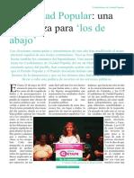 Reportaje Candidaturas de Unidad Popular