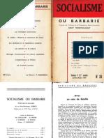 Socialisme ou barbarie 28 juillet-août 1959