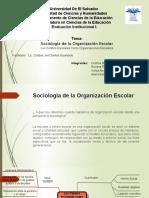 Sociología de La Organización Escolar
