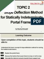 2 Slope Deflection Method for Statically Indeterminate Portal Frame