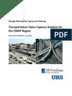Transportation Value Capture Analysis for the CMAP Region