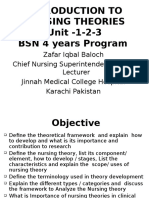Introduction to Nursing Thoery Unit - 1-2 -3 BSN Program by Zafar Iqbal Baloch