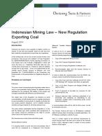 Mining Update - Indonesian Coal Export Licenses