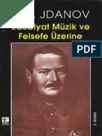 A.a.jdanov - Edebiyat Müzik Ve Felsefe Üzerine - Kaynak Yay-1996