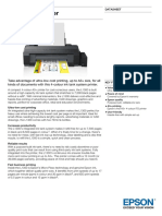 Epson L1300 A3 Colour Inkjet Tank System Printer Datasheet