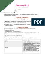 Resumen  (Infancia) - Psicología del Desarrollo
