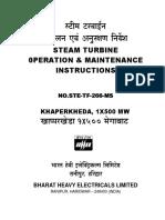 Turbine(O&M) Manual