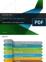 Oracle Yard Management Session 28-Jan-2015