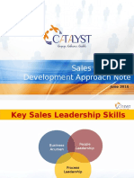 Sales Capability Development Approach Note