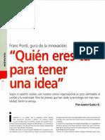 Quien eres tú para tener una idea. Franc Ponti