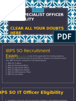 IBPS SO Aspirants Queries :Clear all your doubts about Eligibility here