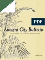 Ancient City Bulletin - Oct 2016