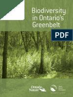 Biodiversity in Ontario's Greenbelts (Suzuki, 2011-12)