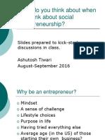 Social Entrepreneurship Discussion Slides