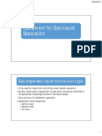 Equipment for Gas-liquid Separation Class Note