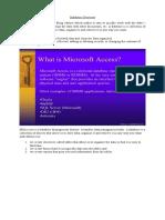 MSAccess Database Management System