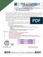 Certificat de Conformitate Si Garantie