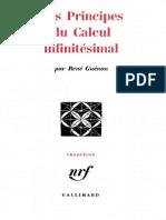 Les Principes Du Calcul Infinitésimal