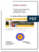 Project Report of Dr. Reddy's