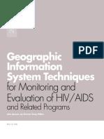 GIS Techniques for M&E of Hiv